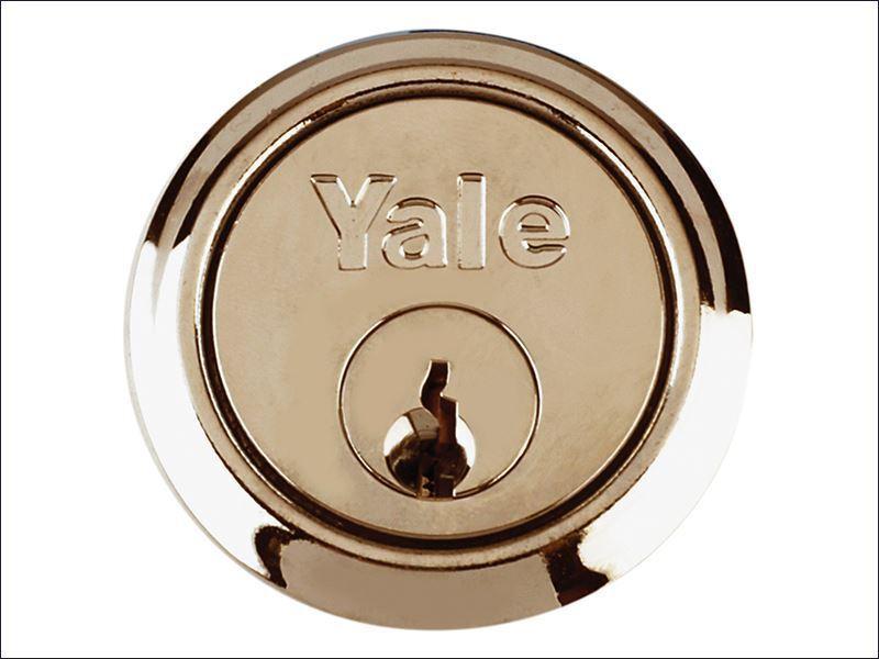 GENUINE YALE RIM CYLINDER LOCK POLISHED BRASS Replacement Door Handle Surround