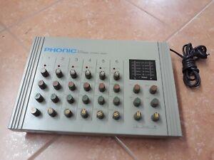 PHONIC BKX 8600 Audio Mixer STEREO 6 Canali VINTAGE - NON TESTATO, PER RICAMBI