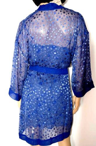 Bleu Court Tailles 'rita' Couleur Marjolaine Xs Imprime 80 L Soie Deshabille 18Wpaq