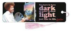 Bob Ross Dark Light Quote Bookmark Brand New Book Reading