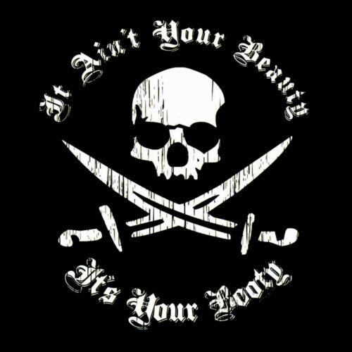 * Piraten Gothic Tattoo Biker Totenkopf Damen Girl T-Shirt *7166