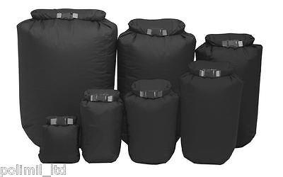 EXPED 100% Waterproof Fold Lightweight Canoe Kayak Dry Bag Sack Black ALL SIZES