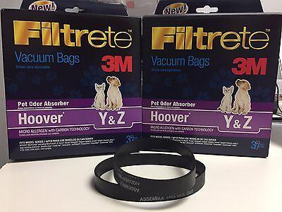 9 Type Y bags /& 38528-033 belts Hoover Part#4010100Y - 2
