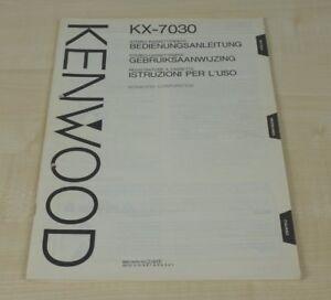 Kenwood KX-7030 original Bedienungsanleitung (mehrsprachig, auch in Deutsch) (2)
