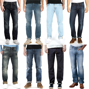 B-Ware-Nudie-Herren-Jeans-Hose-Regular-Tapered-Straight-Fit-UVP-139