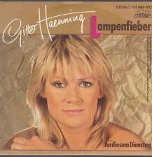 """7"""" Gitte Haenning Lampenfieber / An diesem Dienstag 80`s Ariola Global"""