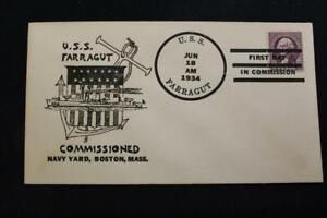 Naval-Housse-1934-Bateau-Cancel-Mise-en-Service-Uss-Farragut-DD-348-3312