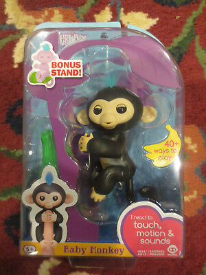 Wowwee Fingerlings Interactive Monkey Finn Black Fingerling Always Buy Good Electronic & Interactive Toys & Hobbies