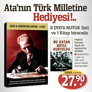 Nutuk-Sesli-Goeruentuelue-8-DVD-Bu-Vatan-Boeyle-Kurtuldu-Turkce-kitap-ve-DVD