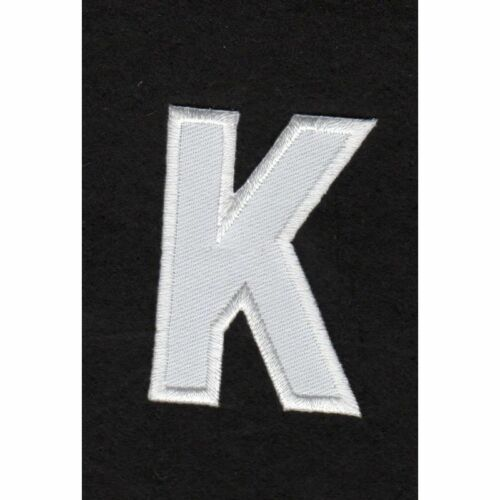 Ecusson thermocollant Alphabet Lettre K Coloris Blanc REF k//11