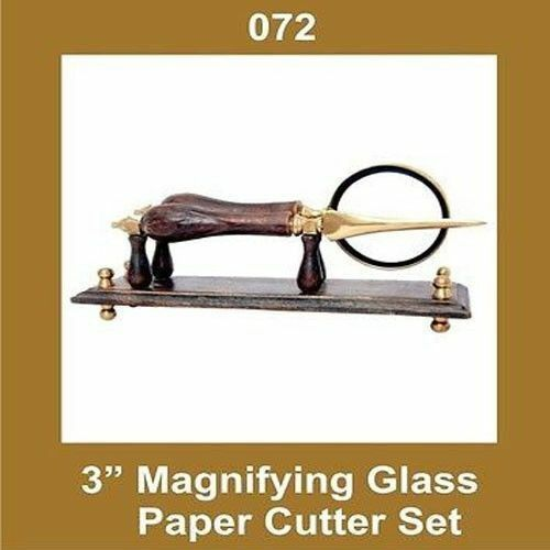 3 Inch Glass Magnifying Paper Cutter Set Nautical GEc