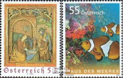 Industrious Austria 2693,2694 Fine Used Cancelled 2007 Christmas Sea Utmost In Convenience