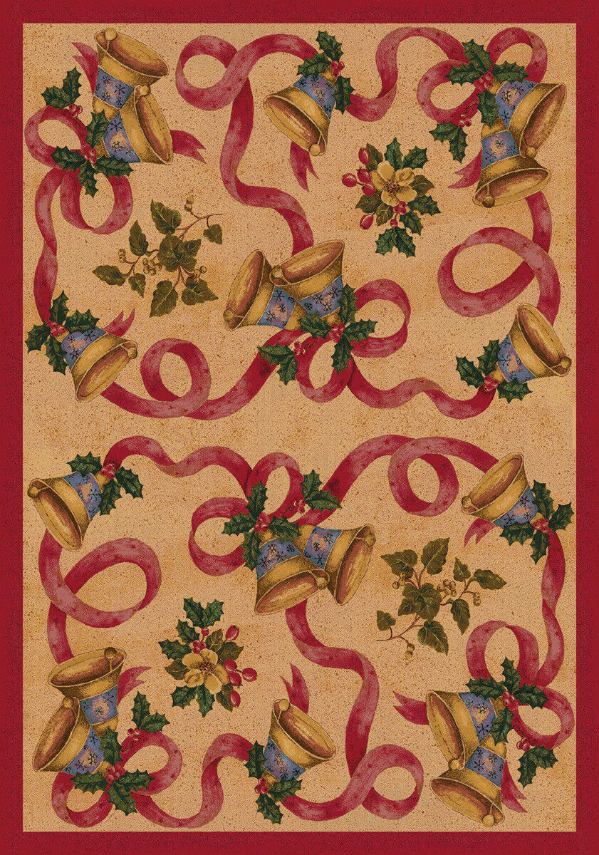 4x6 Milliken Bells Bows Chimes Christmas Area Rug Approx 3 10 X5 4 For Sale Online