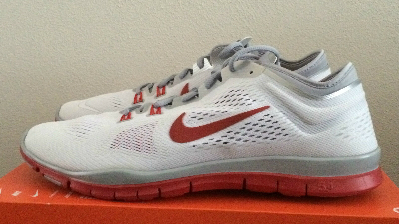 Womens Size Size Size 15 White Red Nike Free 5.0 TR Fit 4 Team Athletic shoes 642069 109 1a9f07