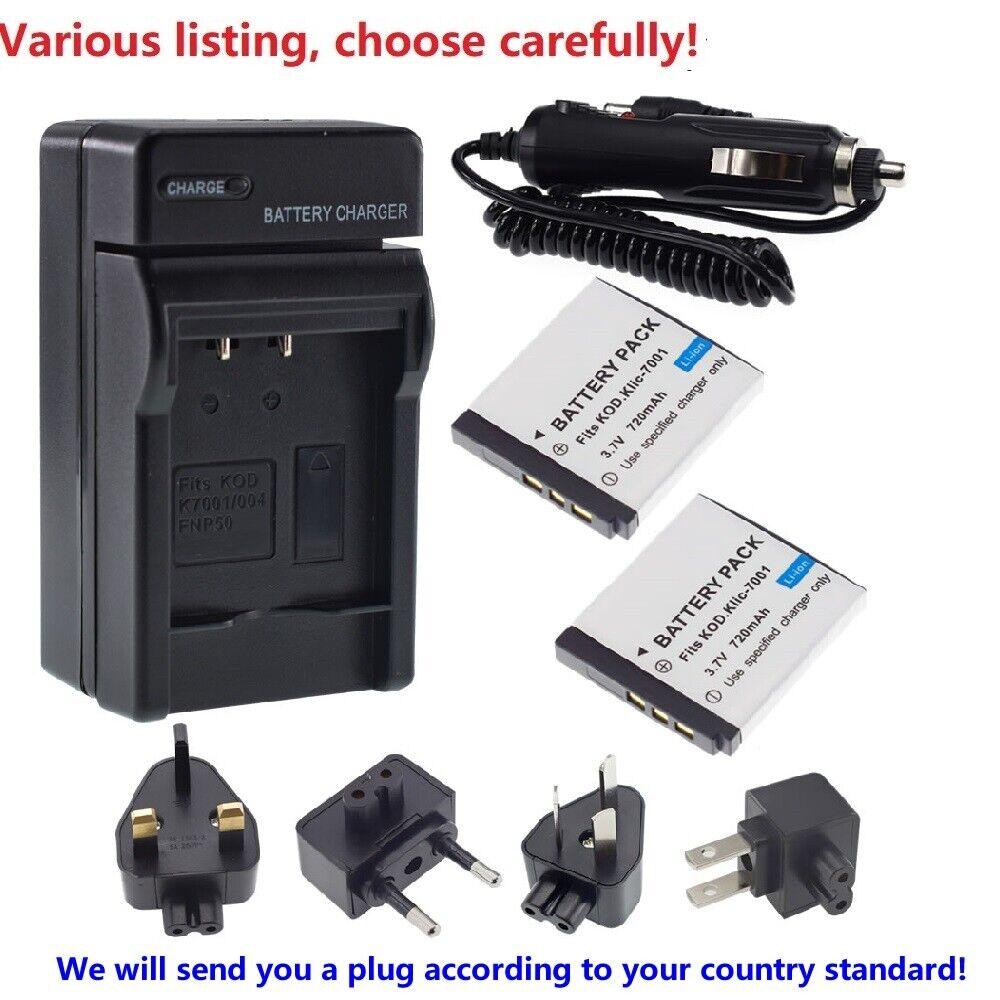 Battery or charger For Kodak KLIC-7001 KLIC7001 BM341 M340 M320 M1073 M863