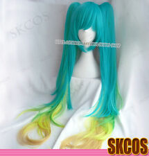 LOL League of Legends Sona Buvelle Cosplay wig costume 2 clip Green Ver
