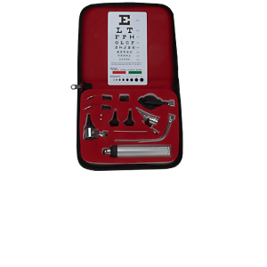 Professional High Quality Diagnostic Physician ENT Kit ,Otoscope With Eye chart