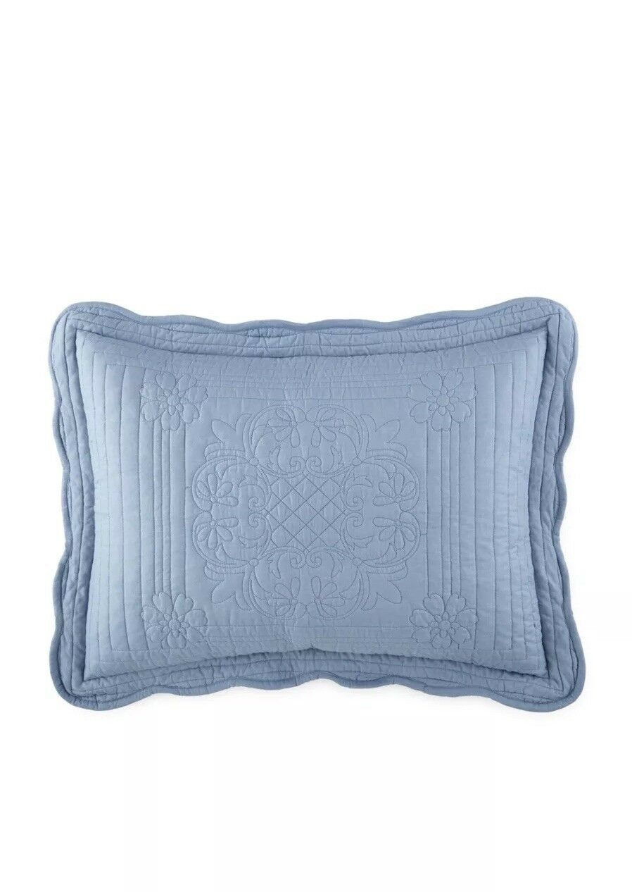 "Jcp Home Expressions Everly King Pillow Sham 20""x 36"" blueeee Dusk"