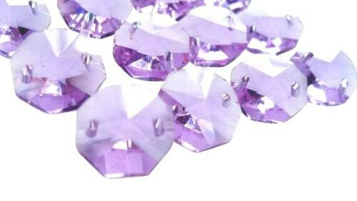 50 Lilac Purple Octagon Chandelier Crystal Beads Octagons