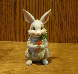Jim-Shore-Heartwood-Creek-Mini-039-s-6003621-BUNNY-with-CARROT-New-Retail-Store