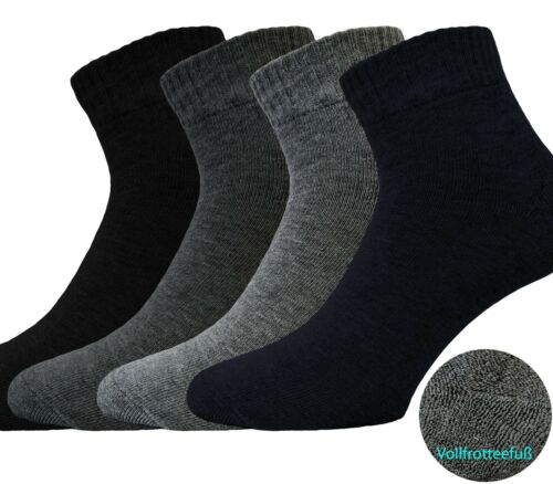 3 pares de calcetines de Quarter con suela de felpa-calcetines de deporte Señores de brevemente calcetines