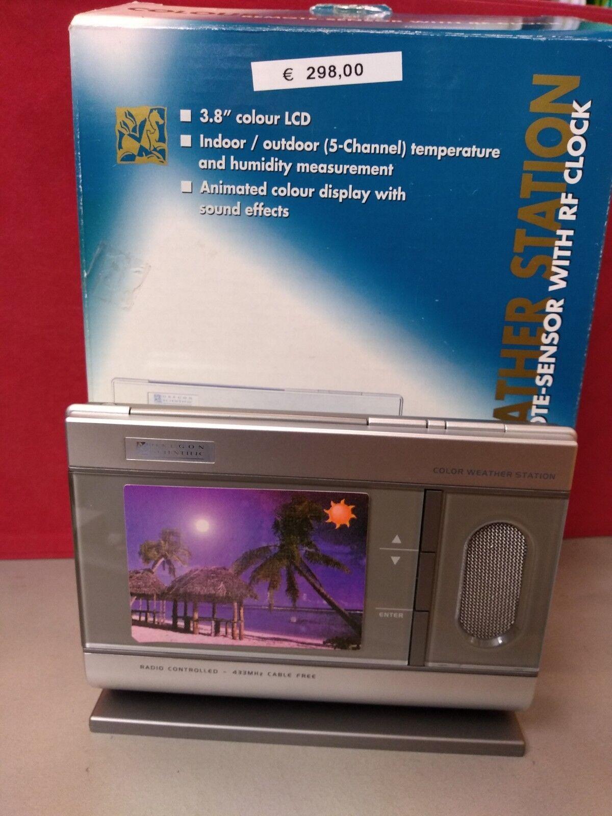 Stazione barometrica senza fili con display LCD a Colori da 3,8 pollici