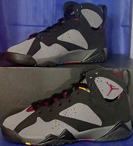 best service 0e5bc 9a989 Image is loading Nike-Air-Jordan-7-VII-Retro-Bordeaux-Youth-