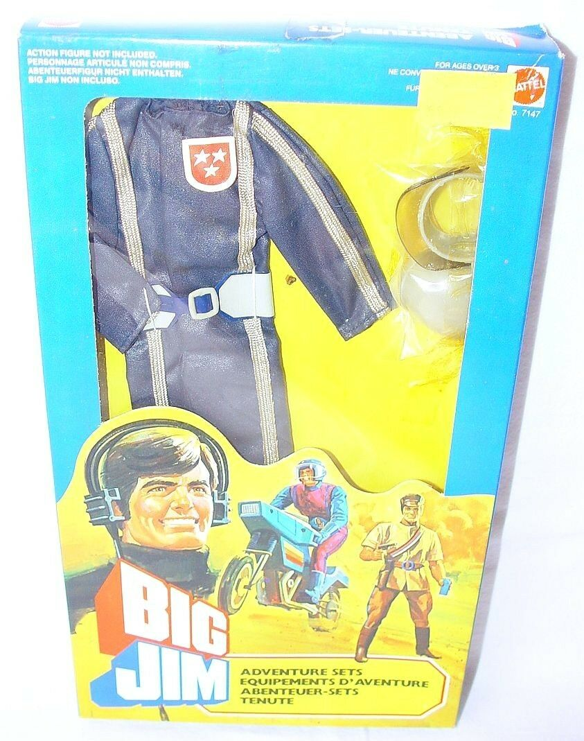 Mattel USA BIG JIM 10  ALL TERRAIN VEHICLE DRIVER Action Figure OUTFIT MISB`83