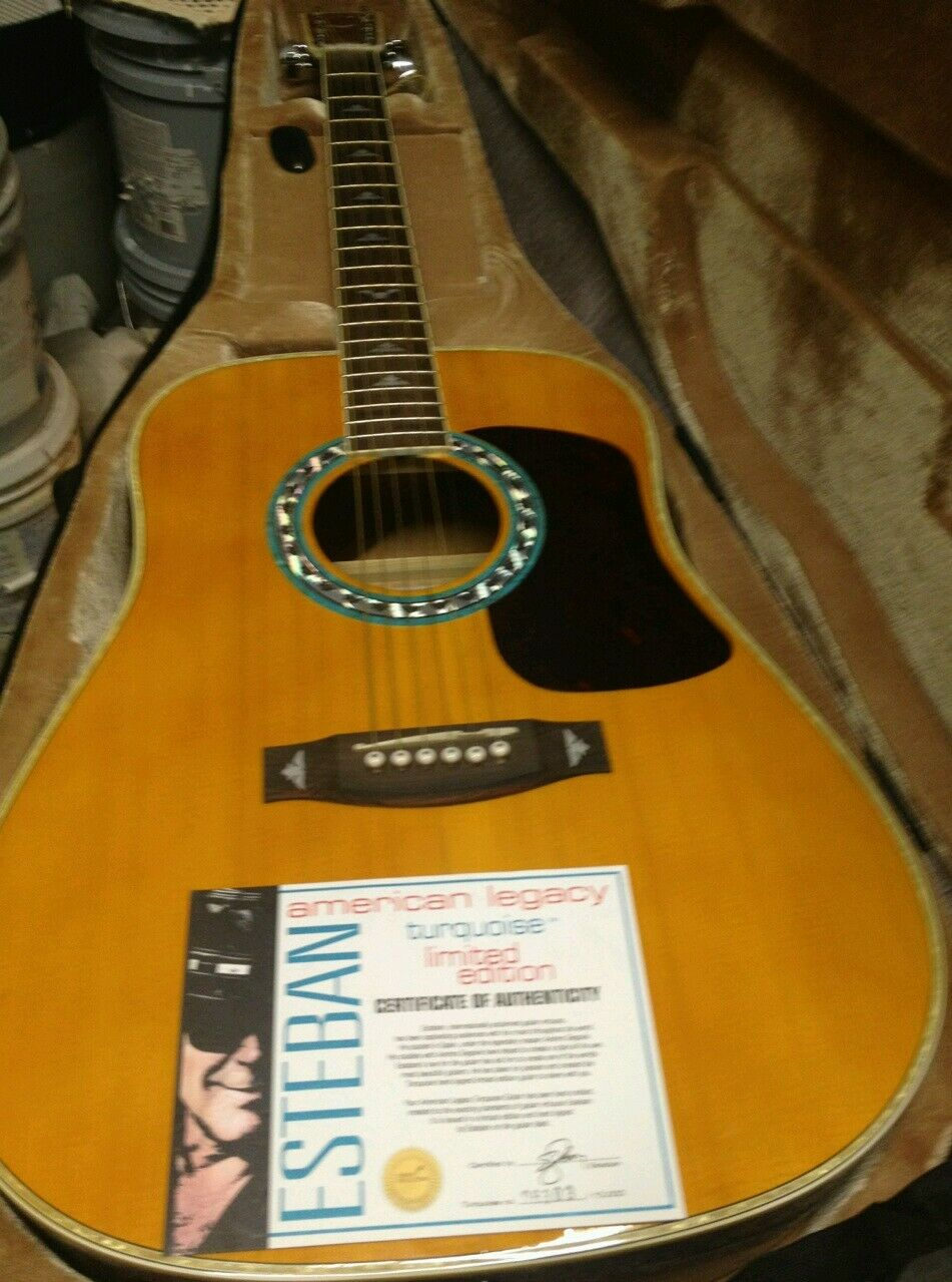 Authentic Acoustic Guitar with Papers