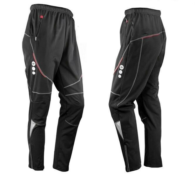 SANTIC Cycling Fleece Thermal Wind Pants Winter Pants Tights-Heroic bearing