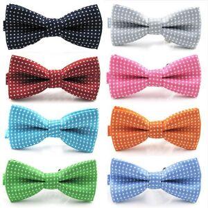Classic-Fashion-Boy-Kid-Child-Polka-Dot-Party-Wedding-Tuxedo-Bowties-Tie-Necktie