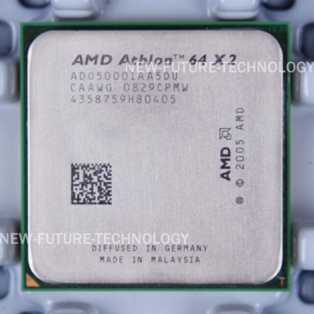 AMD Athlon 64 X2 5000+ (ADO5000IAA5DU) CPU 1000 MHz 2.6 GHz Socket AM2 100% Work