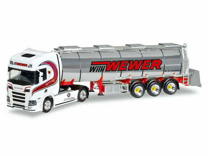 Herpa 308427 h0 h0 h0 CAMION SCANIA CR HD Chromtank-Semi-remorque Willi WEWER b37ab7