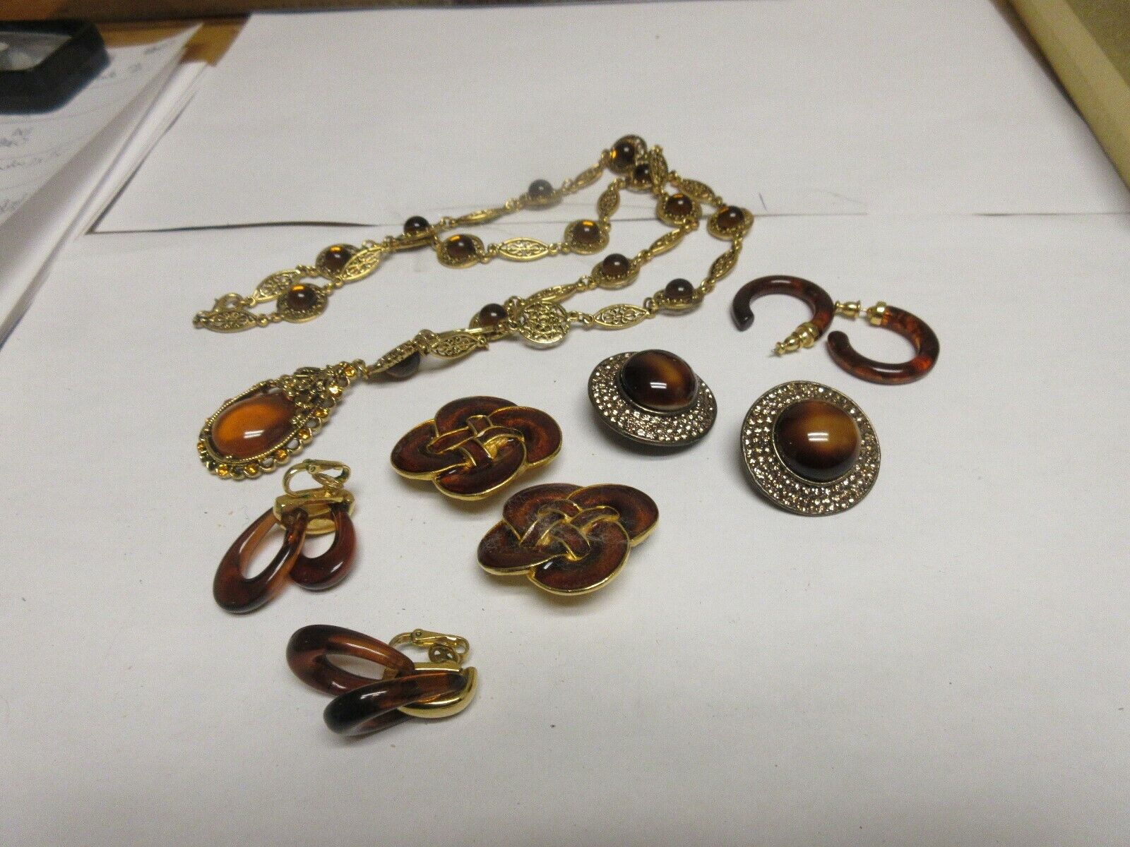 Costume Jewelry , Necklace . Earrings (4 Pair) , Jay Fe