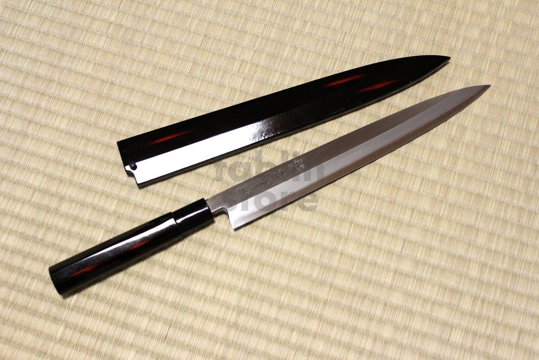 SAKAI TAKAYUKI Shikisai Akebono sashimi yanabiba inox with scheide any Größe