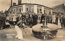 POSTCARD     CORNWALL   PADSTOW   HOBBY  HORSE   RP