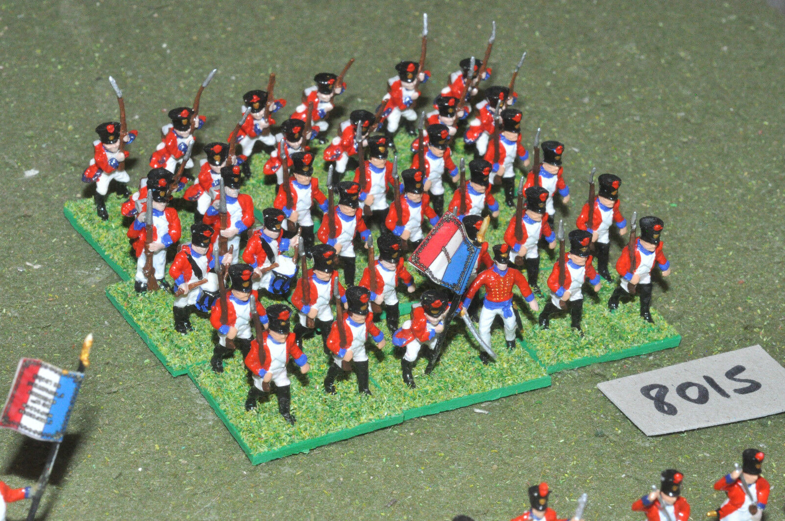 20mm napoleonic   swiss - infantry plastic 36 figs painted - inf (8015)