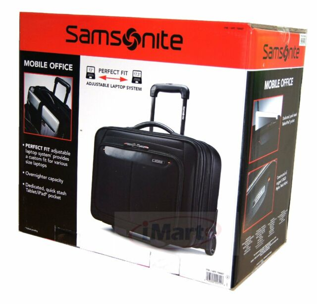 Samsonite Mobile Office Business Spinner Carry On Luggage Fit Ipad Tablet 17