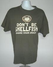 EUC MENS JOES CRAB SHACK T SHIRT XLARGE DON'T BE SHELLFISH SHARE YOUR CRABS