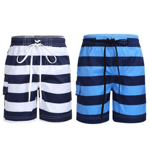 Kids Boys Stripe Elastic Waist Board Beach Surf Swim Shorts Swim Trunk Bottoms