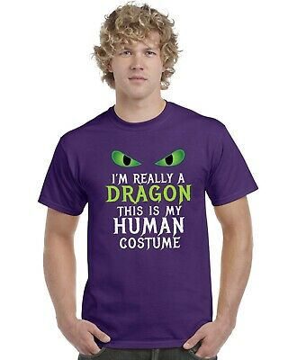 I/'m Really A Dragon This Is Just My Human Costume Adults T-Shirt Sizes S-XXL