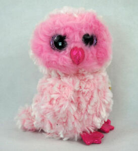 25adf4b1272 Image is loading TY-Beanie-Boos-Regular-TWIGGY-The-Pink-Owl-