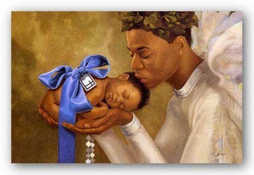 Boy Henry Battle African American Art Print 10x8 Heaven Sent