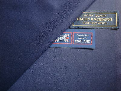 """100% PURE NEW WOOL """"very light milled"""" SUITING FABRIC MADE IN ENGLAND – 2.98 m."""