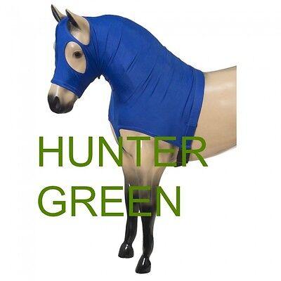 "- -SMALL -HUNTER GREEN Tough-1 Miniature Mane Stay Lycra Hood 26/""-30/"""
