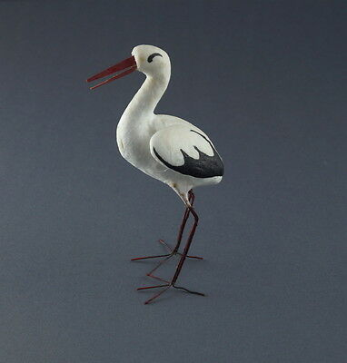 Storch aus Watte / Candy Container ~ 1920   (# 7089)
