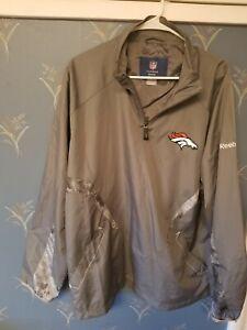 NFL-Men-039-s-DENVER-BRONCOS-1-4-Zip-Reebok-On-Field-Zip-Jacket-Large-L