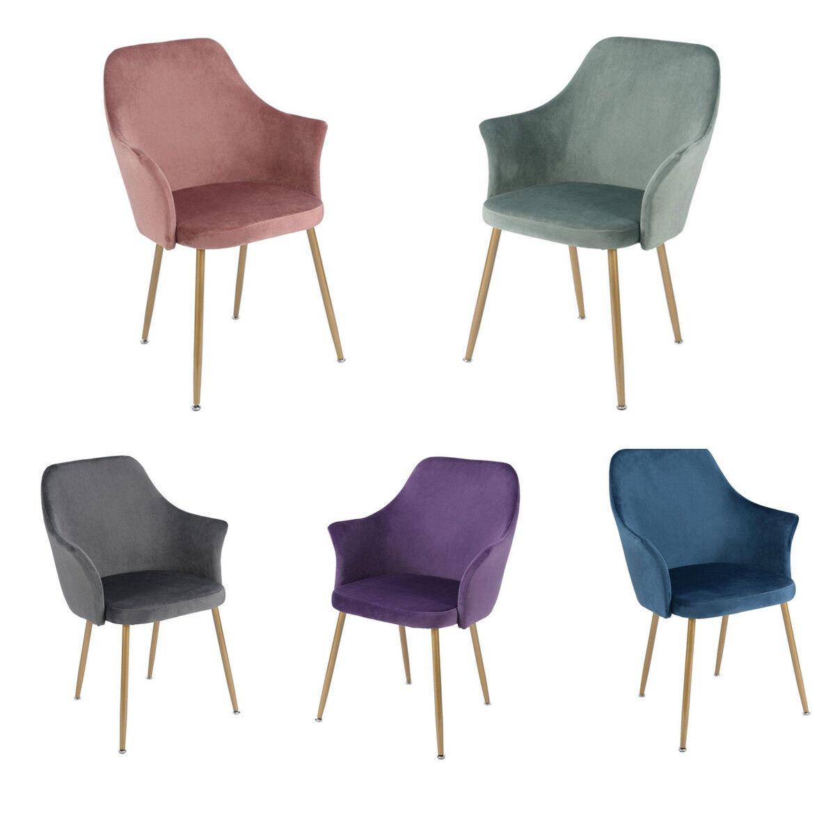 Una Coppia di sedie da Pranzo Moderno scandinavo Velluto