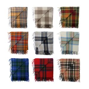 New-BNWT-Scottish-Throw-Large-Wool-Tartan-Rug-Range-of-Tartans-Colours