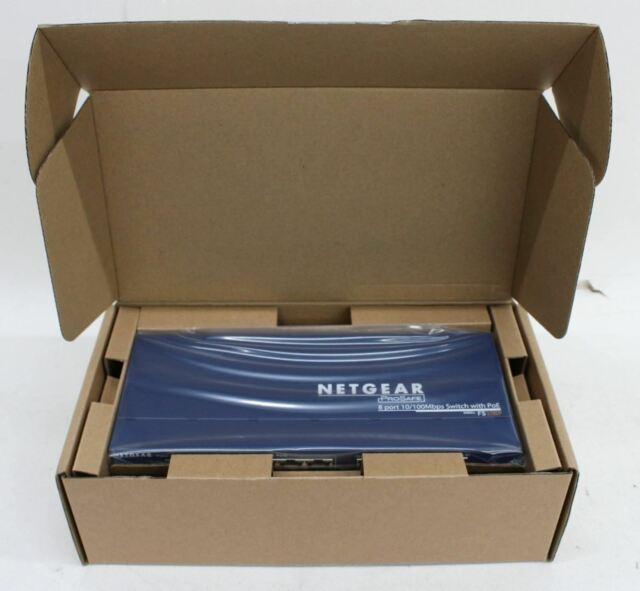 NETGEAR ProSAFE FS108P 8 Port 10/100 Fast Ethernet Unmanaged Switch w/PoE NEW
